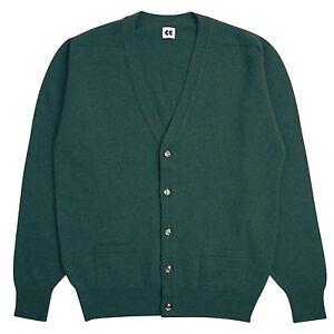 Community-Clothing-Men-039-s-Light-Green-Wool-Cardigan