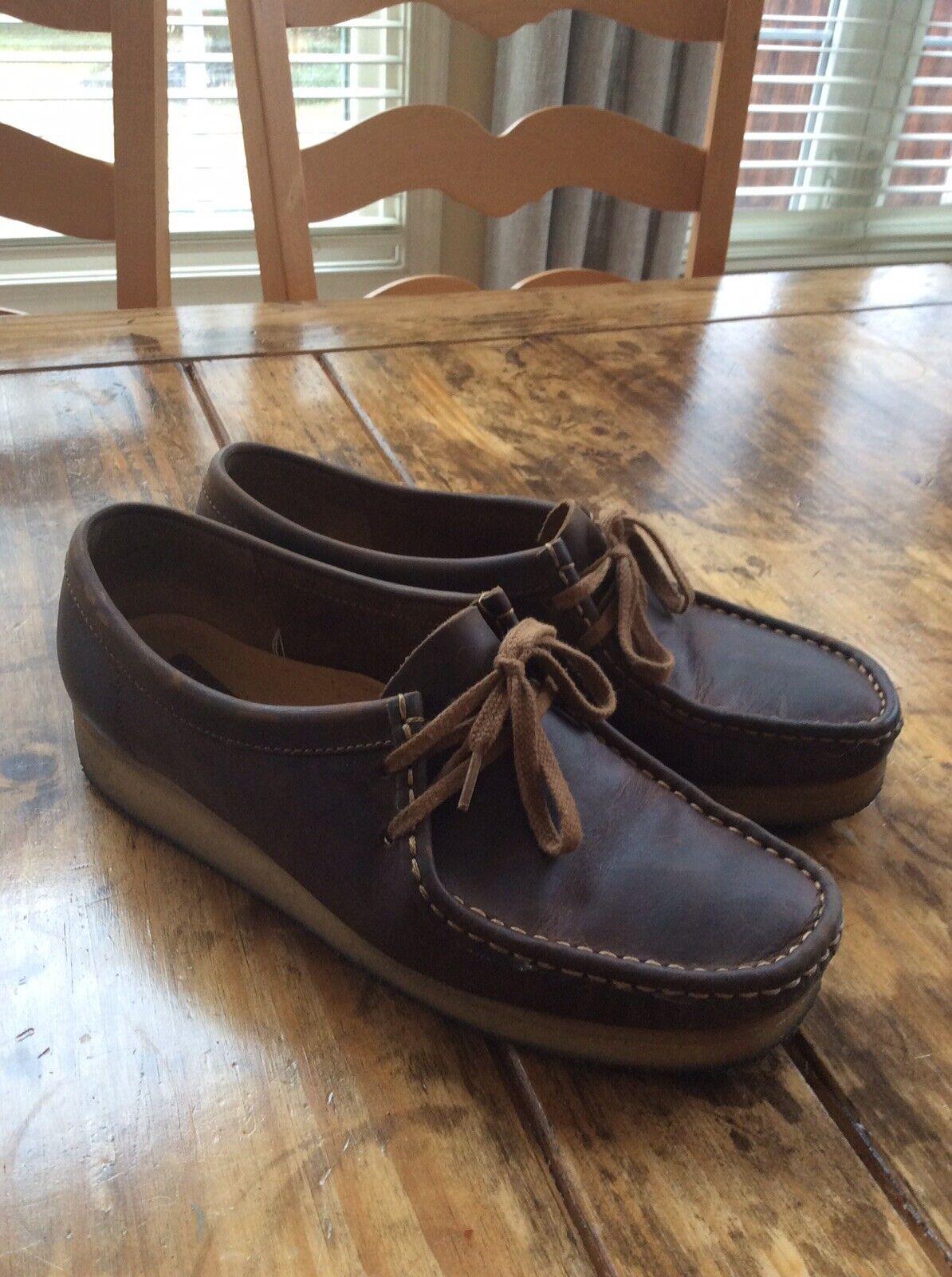 sport caldi donna clarks scarpe Dimensione 10 10 10 Marrone Leather Wallabees  tutti i prodotti ottengono fino al 34% di sconto