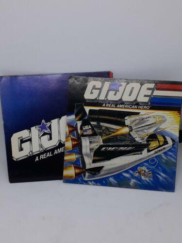 Vintage 1989 Hasbro GI JOE A real american hero Crusader navette spatiale brochures