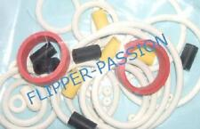 Kit caoutchoucs flipper  JURASSIC PARK  DATA EAST 1993 blanc elastiques pinball