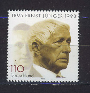 ALEMANIA-RFA-WEST-GERMANY-1998-MNH-SC-2002-Ernst-Junger-writer