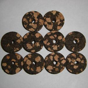 """8 BURL CORK RINGS 1 1//2/""""X1//2/"""" BURNT  NO BORE"""