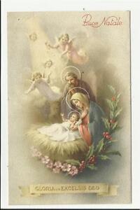 Immagini Sacre Di Buon Natale.Dettagli Su Antica Cartolina Di Buon Natale Sacra Famiglia Gloria In Excelsis Deo