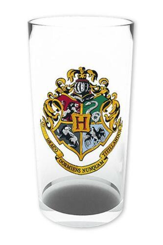 Harry Potter Glas Wappen Trinkglas transparent Getränkeglas Trinkbecher Geschenk