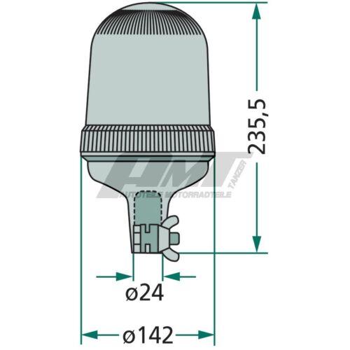 Rundumleuchte 12V 55W H1 Warnleuchte Blinkleuchte für Aufsteckrohr gelb
