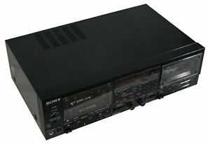 VTG-SONY-Stereo-DUAL-CASSETTE-DECK-Tape-Player-TC-WR950-FOR-PARTS-OR-REPAIR