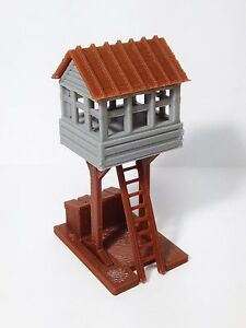 Outland-Models-Train-Railway-Layout-Trackside-Watch-Signal-Tower-HO-Scale-1-87