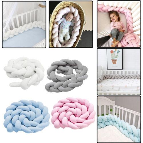 Baby Bettnestchen Bettumrandung Nestchen Kopfschutz Krippe Design Knotenkissen
