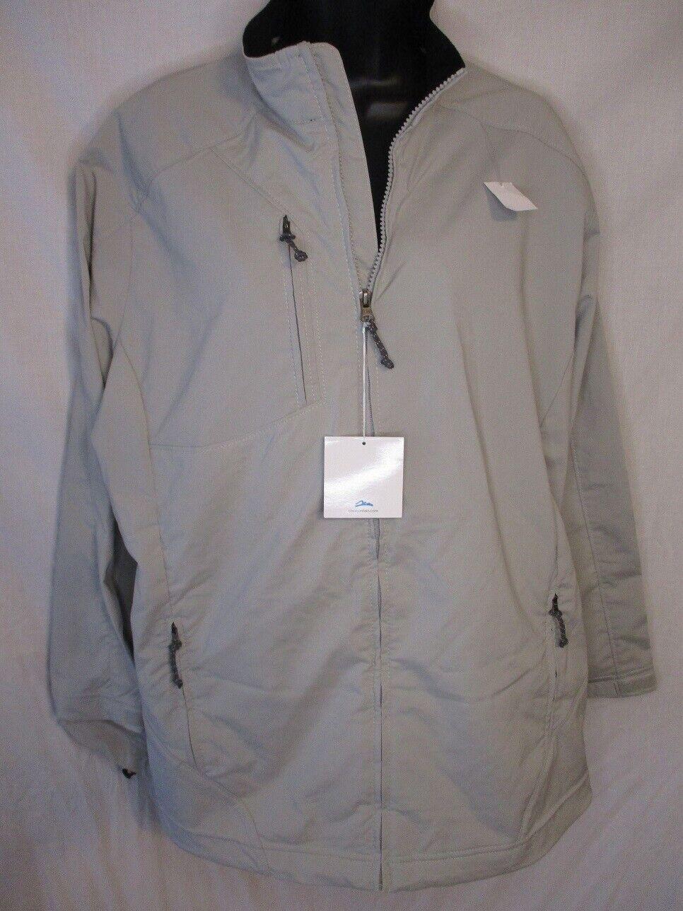 Tri-Mountain Polyester 2XL Beige Long Slve Zip Windbreaker Jacket NEW w/Tags
