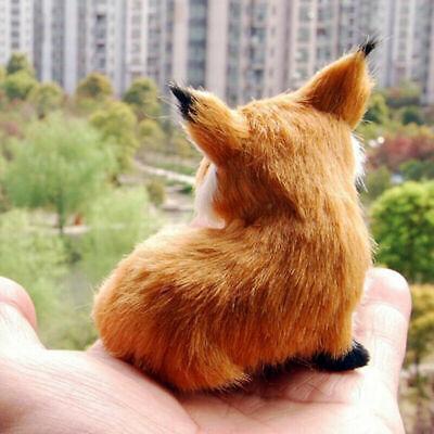 9*7*8cm Realistic Stuffed Animal Soft Plush Kids Toy Sitting Fox Gift Decor S7O8