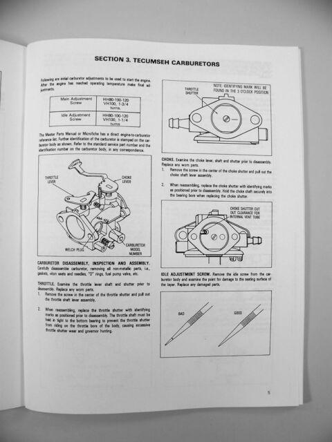 BOLENS 1400G 1463 LAWN MOWER GARDEN TRACTOR TECUMSEH OH140 ENGINE SERVICE MANUAL