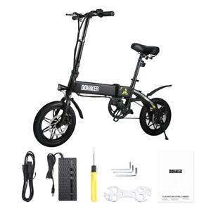 DOHIKER VéLos éLectrique Pliant Folding Electric Bicycle 36V 14'' LED USB Port