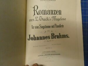 Johannes-Brahms-Romanzen-L-Tieck-039-s-Magelone-Singstimme-Pianoforte-OP-33-B-25043