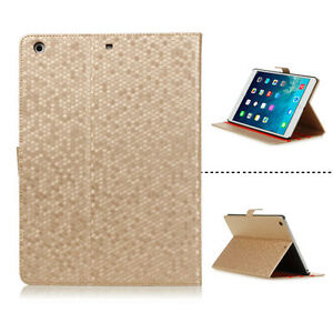 LIGHT-BROWN-HEXAGON-PATTERN-PROTECTIVE-LEATHER-CASE-COVER-FOR-APPLE-iPAD-AIR