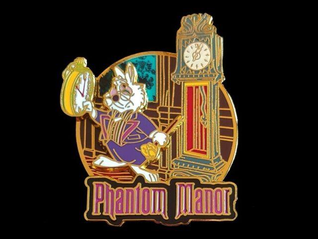 Disney Pin DLP - Alice in Phantomland Haunted Mansion - White Rabbit LE #262/700