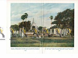 Ceylon-Sri-Lanka-Thumparama-Anuradhapura-Book-Illustration-c1920