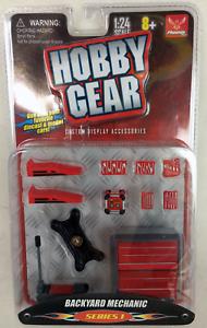 """Werkstattausstattung Maßstab 1:24 Hobby Gear /""""Backyard Mechanic/"""" Series 1"""