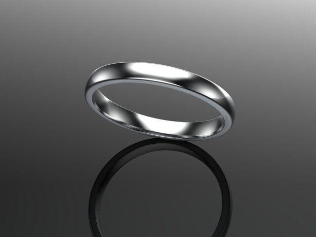PLATINUM PLATINUM PLATINUM DONNA COMFORT Corte WEDDING ring-heavy Spessore 2mm 0a90ff
