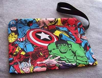 Marvel Hero Clutch Bag Super Hero Licensed Fabric Avengers