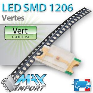 LED-SMD-CMS-1206-Vertes-Green-Vert-Lots-multiples-prix-degressifs