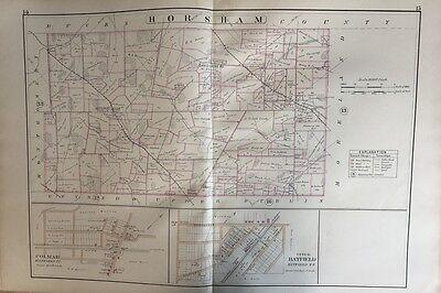 1797 PA MAP Horsham Jeannette Kingston Morrisville Tionesta Jermyn SURNAMES HUGE