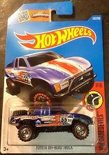 Hot Wheels 2016 L Case CUSTOM Super Toyota Off Road Truck with Real Riders