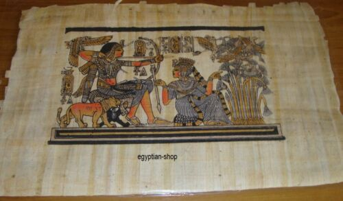 Egyptian PAPYRUS King Tut Hunting Ducks Approx. 29cm x 20cm #113