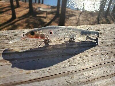 CUSTOM PAINTED MEGA BASS BAIT VISION 110 ONE PRO JERKBAIT FISHING LURE PROBLUE