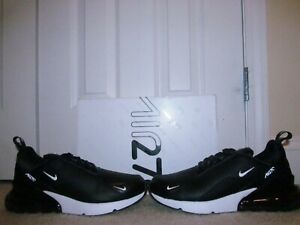 cab7aade 2019 NIKE AIR MAX 270 PRM LEA BLACK size 10 NEW in Box Deadstock ...