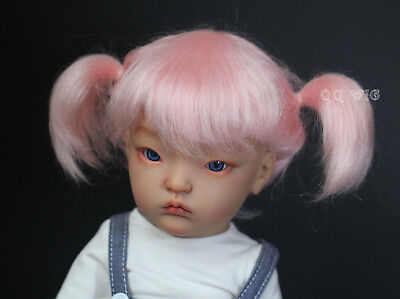QQ-56E  Pink Color BJD Doll Mohair Wig {Dolly Planet} 1//8;1//6 ;1//4 ; IMDA Doll