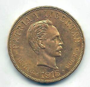 Paises-del-Caribe-10-Pesos-1915-oro-Muy-Bella