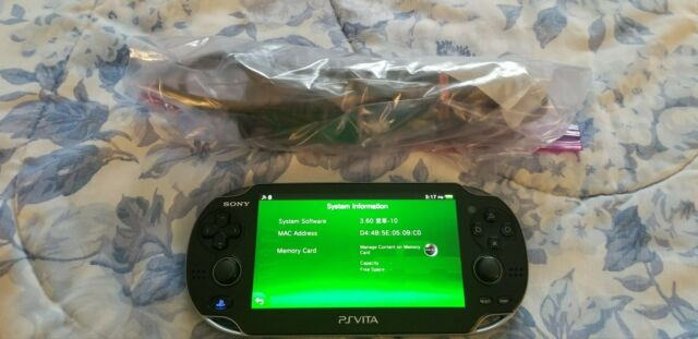 MINT Sony PlayStation PS Vita (PCH-1001) Firmware 3.60 Henkaku+Guide - Fast Ship