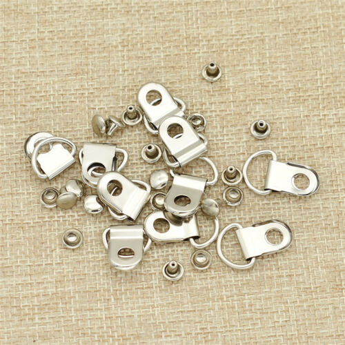 10 Pcs D Ring Buckles with Rivets DIY Bags Purse Hand Craft Making Supplies