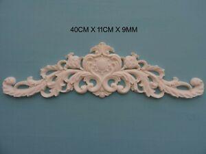 Decorative applique scroll centre resin furniture moulding onlay NR38 22CM X 10CM X 7MM