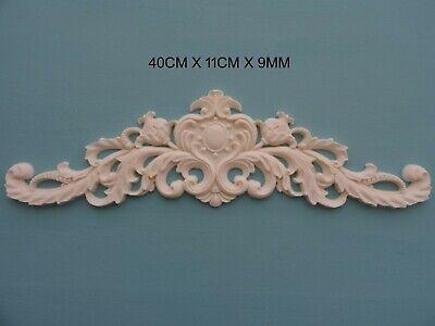 Decorative applique scroll circular centre resin furniture moulding onlay NR35