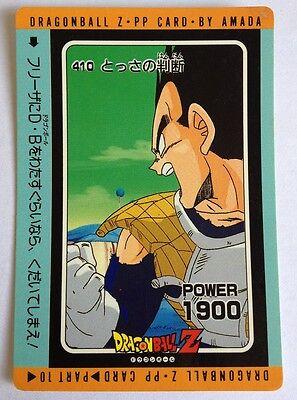Dragon Ball Z Pp Card 410 Eerste Kwaliteit