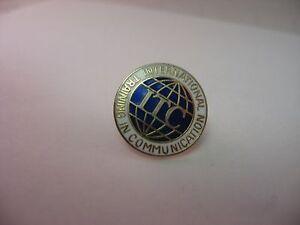 Vintage Lapel Hat Pin Pinback: ITC INTERNATIONAL TRAINING IN COMMUNICATION