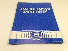 1980 Chevrolet Pro Tech Computer Command Control Service Manual Blue Book
