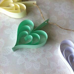 Paper wedding hearts garland kit handmade rustic DIY You choose colour xx