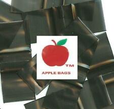 Black 1000 Apple Brand Baggies 1510 2mil Ziplock 1000 Plastic 15x1 Mini Bags