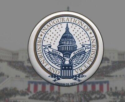 "2021 BIDEN HARRIS  2.25/"" pinback Inauguration button January 20"