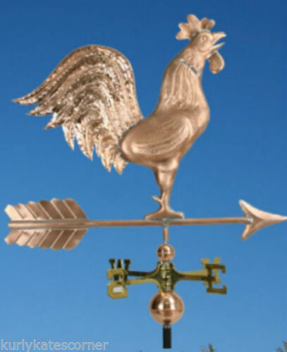 """EXTRA LARGE COPPER /"""" ROOSTER/"""" WEATHERVANE  MADE IN USA #365"""