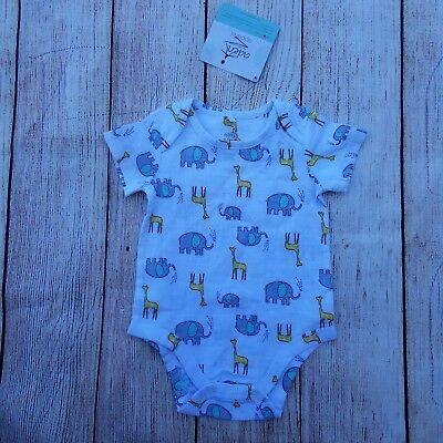 Aden /& Anais Unisex Baby/'s One-Piece Size 0-3M Cotton SS Animals NWT