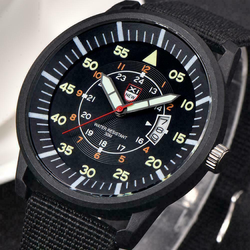 Image 01 - Fashion-Mens-Nylon-Waterproof-Strap-Luminous-Sport-Quartz-Wrist-Watch-R9T8-U8Z2