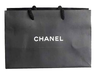 Chanel Gift Bag Perfume Jewellery Xmas Present Wrap 25cm X 16cm X 11cm Authentic Ebay