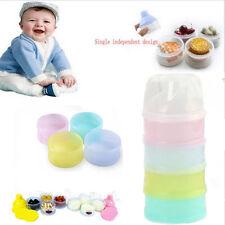 Bewegbar 4 abnehmbare Fächer Milchpulver Dispenser Behälter für Baby Ernährung
