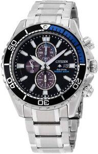 Citizen Eco-Drive Men's Chronograph Silver-Tone Bracelet 46mm Watch CA0719-53E