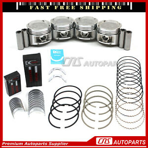 Std 1.6L Civic EX Del Sol Si Vtec for 96 Upgraded Piston+Ring+Engine Bearings