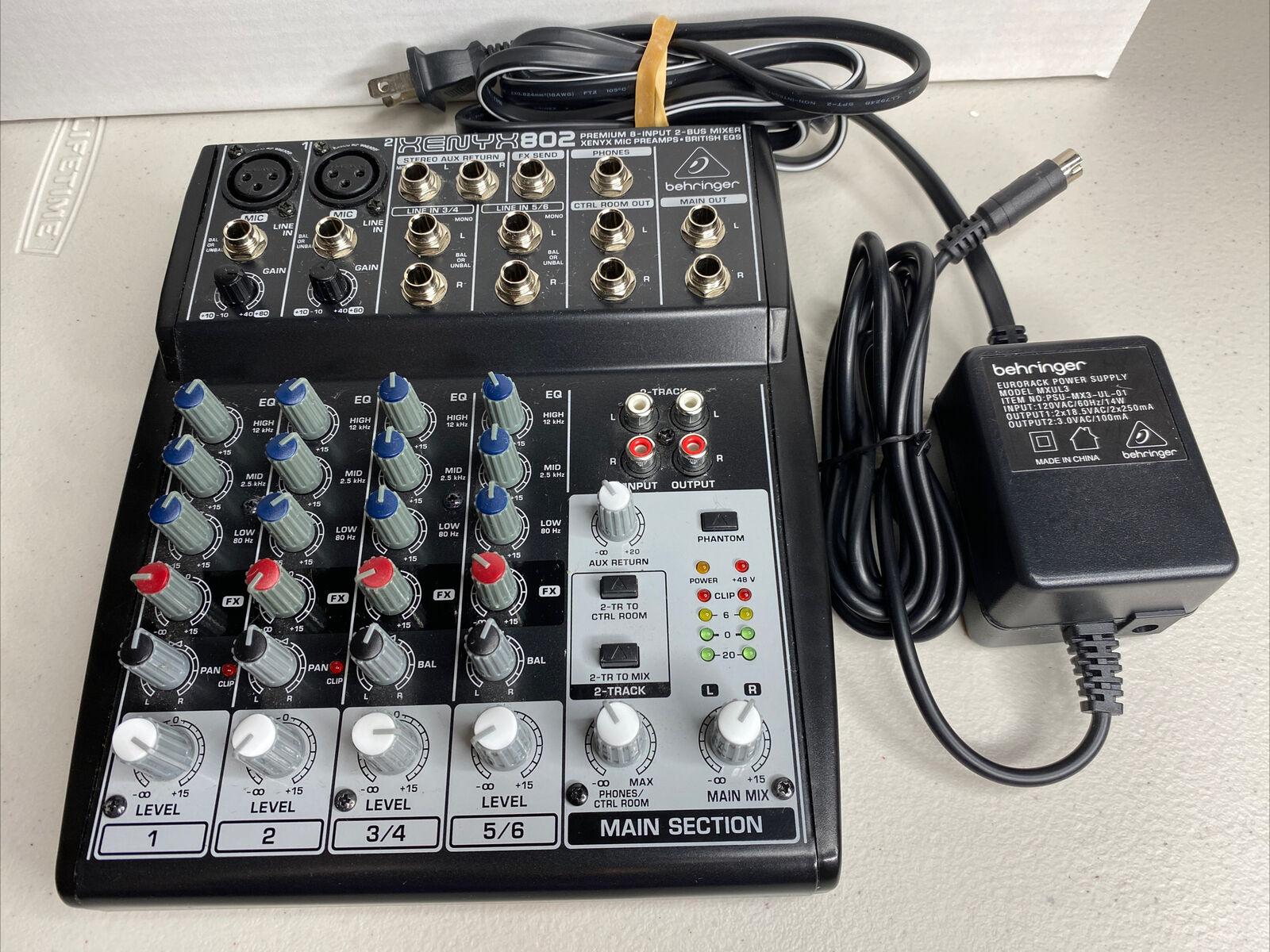 Behringer Xenyx 802 Premium 2-Bus Mixer XENYX802 – DJ Audio Mixing Board. Buy it now for 59.46