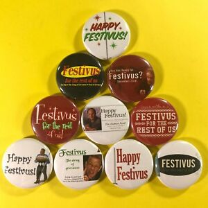 Festivus-1-034-Button-Pin-Set-Christmas-Seinfeld-Holiday-Comedy-Frank-Costanza
